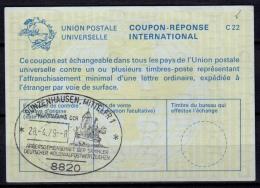 8820 GUNZENHAUSEN BRIEFMARKEN AUSSTELLUNG GOLDMAYER 15.3.80 Auf Internationalem Antwortschein IAS IRC Reply Coupon Repon - Deutschland