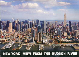 ETATS-UNIS, NEW-YORK : New-York View From The Hudson River (circulée) - Multi-vues, Vues Panoramiques