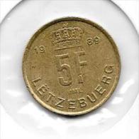 5 Francs 1989   Clas D 115 - Luxembourg