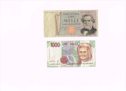 Italy 1000 Lire 1969 - 1000 Lire Mille 1990   - Italia - [ 2] 1946-… : Repubblica