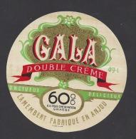 Etiquette De Fromage Camembert  -  Gala  -   ( Laiterie De Grez Neuville)  (49 I) - Fromage