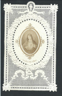 """Superbe Canivet Mécanique  """"La Vierge """" + Au Dos 1875 D´Udekem. Parfait état - Devotieprenten"""