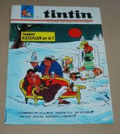 Tintin Français N° 934 15/9/66  Couverture Berck, Entre Vierzon Et Aubrais En Train, Tintin Avion Maurane-saulnier - Kuifje