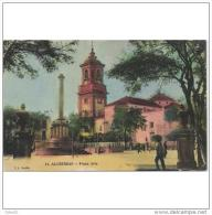 CDZTP4318-LFT3006TARI.Tarjeta Postal DE CADIZ.Edificios,IGLESIA DE LA PALMA Y Personas En PLAZA ALTA DE ALGECIRAS - Iglesias Y Catedrales