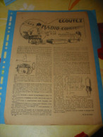 Les Radios Concerts Et La T.S.F Journal Pierrot Lot 5 Feuilles - Radio & TSF