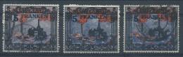 N°82 X3 (1 Neuf Charnière Et 2 Obl), 5 Franken. - 1947-56 Gealieerde Bezetting