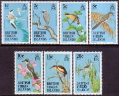 British Virgin Islands 1985 SG #560//68 Part Set MNH OG Birds Of BVI 7 Stamps Of 19 - British Virgin Islands