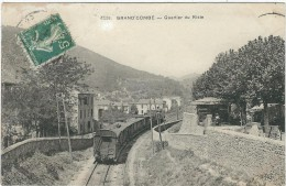 Gard : La Grand Combe, Quartier Du Riste,  Le Train - La Grand-Combe