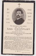 Genealogie Image Pieuse Décés De   Louis Chifflet Artiste Peintre Décédé à Saint -Loup De Bayeux 25 Mars 1897 - Décès