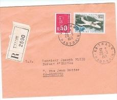 FRrec-L30 - FRANCE PA 39 Sur Lettre Recommandée De Thann Pour Munster - Poste Aérienne