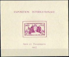 India RF 1937. Yvert Bl.#1 MNH/Luxe (B23) - 1937 Exposition Internationale De Paris