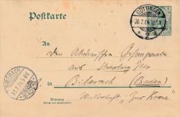 Postkarte (1904)  Göttingen Pour Biberbach - Scan Recto-verso - Allemagne
