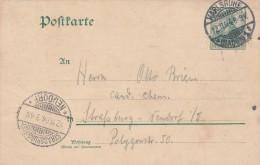 Postkarte (1904)  Karlsruhe Pour Strasbourg  Neudorf - Scan Recto-verso - Allemagne