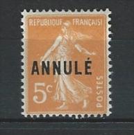"""FR Instruction YT 158-CI 1 """" Semeuse 5c. Orange """" 1925 Neuf* - Instructional Courses"""