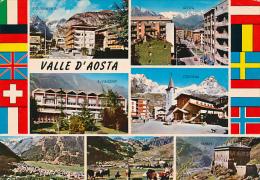 ITALIE, VALLE D'AOSTA, VALLEE D'AOSTE : Courmayeur, Cervinia, Verres, S. Vincent, Cogne, La Thuille  (circulée) - Ohne Zuordnung