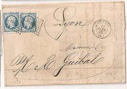2 N° 14 Bord De Feuille VOISIN, PC AVIGON Vaucluse  Sur LAC. - 1849-1876: Periodo Clásico
