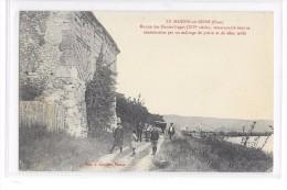 Cpa Le Manoir Sur Seine   ( Eure) -  Maison Des Hautes-Loges (XIVe Siècles) Remarquable Dans Sa Construction - Le Manoir