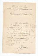 Lettre De La Chambre Des Notaires De L'arrondissement De CHATEAUROUX , Indre , 1902 , 4 Pages ,  Frais Fr : 1.50€ - Invoices & Commercial Documents