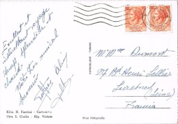 15958. Postal ORTA San Giulio (Novara) 1957. Vista General - 6. 1946-.. Repubblica