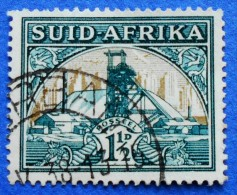 SOUTH AFRICA SUID AFRIKA 1 1/2 D 1941 GOLD MINE  - USED - South Africa (...-1961)