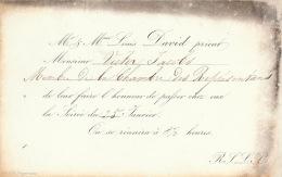 Invitation Carte De Porcelaine ? Louis David Pour Ministre V Jacobs - Faire-part