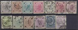 AUSTRIA / 1890/96 - Yvert # 46/58* Precio Cat €28.00 - Usados