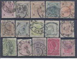 AUSTRIA / 1899-1902 - Yvert # 65/79* Precio Cat €42.50 - Usados