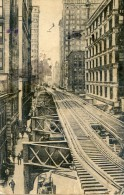 Ligne De Tramway Aérienne -  New-York. - Tramways
