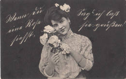 """Old Swiss Postcard """" Young Woman"""" - Cartes Postales"""