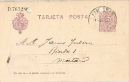 15967. Entero Postal FIGUERAS (Gerona) 1921. Alfonso XIII Nedallon - Enteros Postales