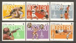 1979 Mi# 2413-2418 ** MNH - Summer Olympics, Moscow '80 - Cuba