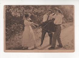 Carte Postale  A PULL WITH BOYS Postée Dans OREGON En 1911 Cachet Postal ETATS UNIS AMERIQUE USA - Etats-Unis