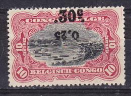 Congo Belge - Belg.Kongo  Cat OBP-COB  Nr 105-Cu  Curiosité - Varieteit   MH    (x) - Belgian Congo