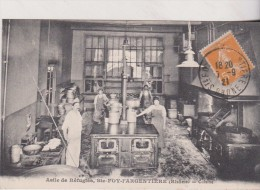 1921   Cpa, Très Belle Vue Animée, Asile De Réfugiés, Sainte Foy L´Argentière, Rhône, Cuisine - Francia