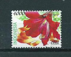 2001 Indonesia 4000r. Flowers,fleurs,blümen Used/gebruikt/oblitere - Indonesië