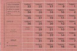 Restriction Rationnement - Planche Neuve De Tickets De Tabac à Partie De 18 Ans - Bons & Nécessité