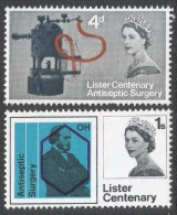 Great Britain. 1965 Centenary Of Joseph Lister´s Discovery Of Anticeptic. MH Complete Set. SG 667-668 - 1952-.... (Elizabeth II)