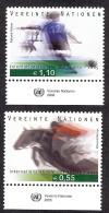 UNITED NATIONS VIENNE 2005 YVERT 452-453** MICHEL 441-442 ** - Wien - Internationales Zentrum