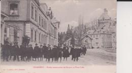 CHAMBERY Ecoles Communales De Garçons Et Place Caffe - Chambery