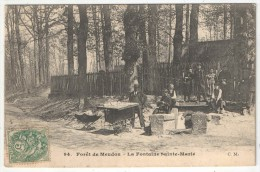 92 - Forêt De MEUDON - La Fontaine Sainte-Marie - CM 94 - Vendeur Ambulant De Cartes Postales - Meudon
