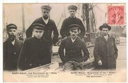 """35SMA1- SAINT-MALO -  Les Survivants Du """" Hilda """" Naufragé Du 19/11/1905 - Saint Malo"""