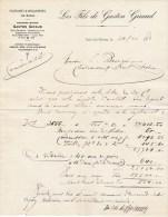Vals-les-Bains- Ardèche - Facture - Filatures Et Moulinages De Soies - Les Fils De Gaston Giraud - 1921 - Textile & Vestimentaire