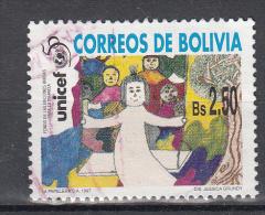 Bolivia 1997 Mi Nr 1344  50 Jaar Kinderhulp Verenigde Natien (UNICEF): - Bolivië