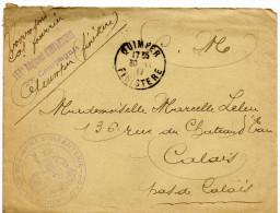 Jolie Envelope 151 ème Régiment D'infanterie 27 ème Compagnie. Cachet Au Verso. Rare - Marcophilie (Timbres Détachés)