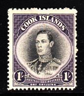 Cook Islands MH Scott #122 1sh George VI - Cook Islands