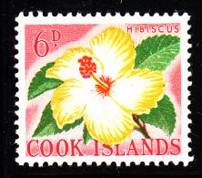 Cook Islands MH Scott #152 6p Hibiscus - Cook