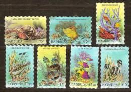 Barbuda 1987 Yvertnr 899-905 *** MNH Cote 38 Euro Faune Marine Poissons Hautes Valeurs - Antigua Et Barbuda (1981-...)