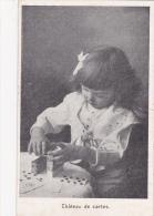 CPA Fillette Faisant Un Château De Cartes Cartes à Jouer Playing Card - Cartes à Jouer