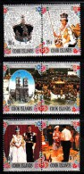 Cook Islands MNH Scott #465-#467 Set Of 3 Se-tenant Pairs 25th Anniversary Reign Of Elizabeth II - Cook
