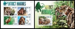 SIERRA LEONE 2015 - Extinct Animals, M/S + S/S. Official Issue. - Prehistorisch